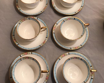 Homer Laughlin coffee/tea cups and saucers 6 piece set