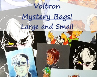 Voltron Legendary Defender Mystery Prints Bags!