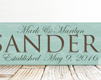 Family Name Sign, Personalized Last Name Sign, Wedding Gift, Personalized Family Name Gift