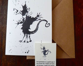 Squirtmeleon Greetings Card