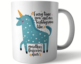 Insta Unicorn Ceramic Mug