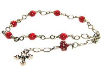 Anglican Rosary Chaplet Prayer Beads / Christian Pocket Rosary