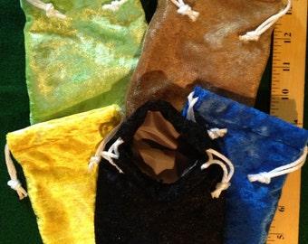 Set of Five Deluxe Token or Dice Bags