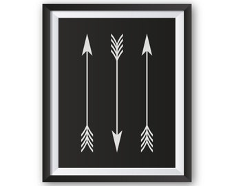 Living Room Art, Wall Decor Living Room, Wall Decor Arrow, Living Room Wall Decor, Living Room Prints, Vertical Arrows