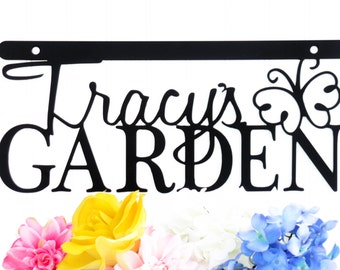 Name Sign   Outdoor Sign   Gift For Her   Outdoor Wall Art   Garden Sign   Metal Garden Sign   Personalized Garden   Butterfly