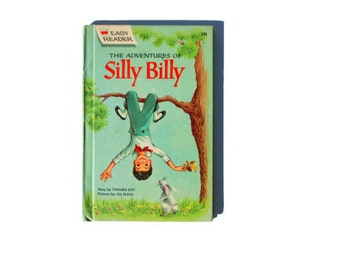 Silly Billy, 1961, blue, brown, vintage children's book