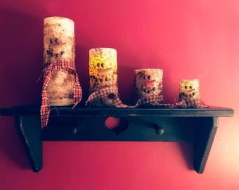Snowman Candles