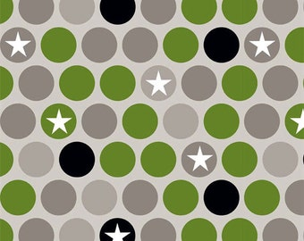 One Yard REMNANT with FLAWS - Military Max - Main in Gray (Taupe) / Green - Cotton Quilt Fabric - Riley Blake Designs - C4370-GRAY (W3277)
