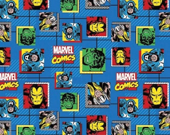 Marvel Comic Blocks Fabric from Springs Creative