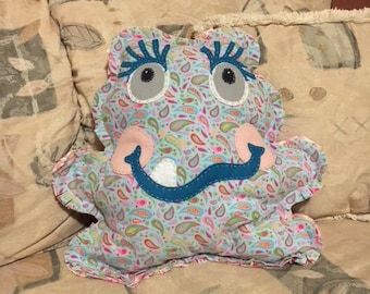 Rag Quilted Monster Pillow