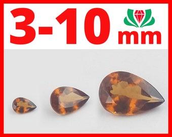 Hessonite Pear, 3-10mm, Natural Hessonite, Hessonite, Hessonite Garnet, Hessonite Gemstone, Hessonite Stone, Hessonite Gem