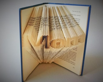 Mothers Day - Folded Book Art - Mom - New Mom Gift - Gifts For Mothers