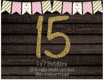 15 Professionally Printed Card Stock Invitations