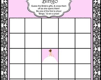 Bridal Shower Bingo-Printable Design