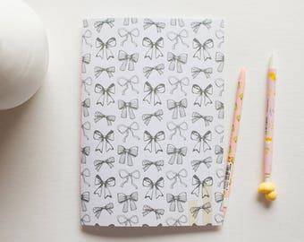 cute school, cute bows, blank journal, small sketchbook, writing journal, sketchbook journal, notebook journal, prayer journal, paper