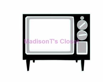 Retro Vintage Television TV SVG Cutting Digital File Only
