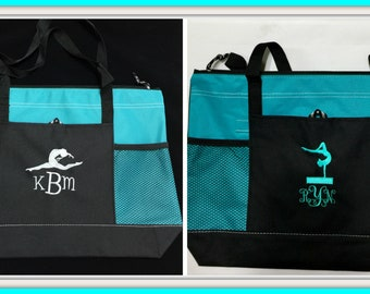 Personalized Dance Bags, Ballet Bags,Cheer Bags, Gym Bags, Teacher Gifts, Bridesmade Gifts, Gymnastic Bags