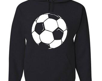 Custom Personalized Soccer Pullover Hooded Sweatshirt ( Unisex Adult Hoodie )
