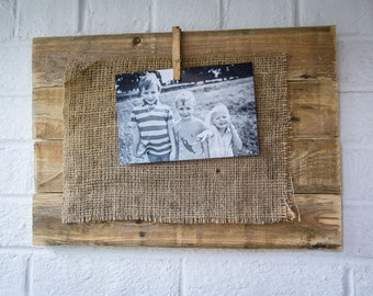 Picture frame made from reclaimed pallet wood