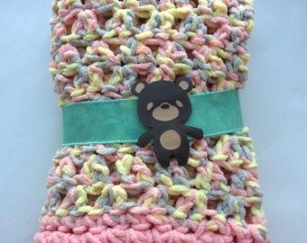 Crochet Baby Blanket - Free Shipping