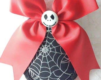 Halloween Teardrop Hat (Spiderwebs and Jack Skellington)