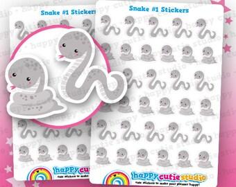 33 Cute Snake/Pet Planner Stickers, Filofax, Erin Condren, Happy Planner,  Kawaii, Cute Sticker, UK