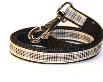 dog lead / leash Tartan Beige