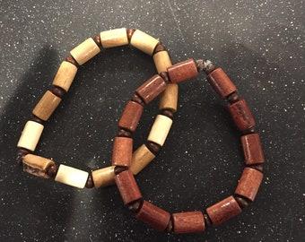Set of 2 Wood Bracelets