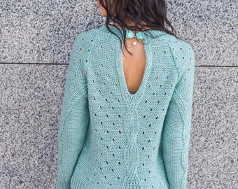 More colors! Turquoise wool sweater Emerald knitted sweater Womens pink sweater Sweater with long sleeve White Knit sweater Winter sweater