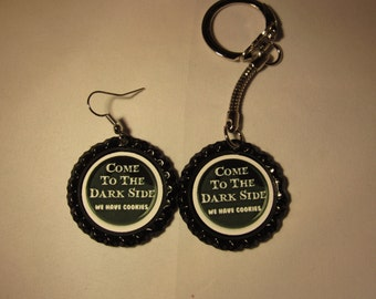 Come To The Dark Side We Have Cookies  Earring or keychain
