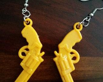 Yellow Gun Earrings