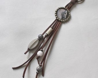 Pocket pendant, horse head, bottle cap, upcycling