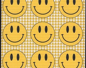 Smiley 9 Panel white - Blotter art