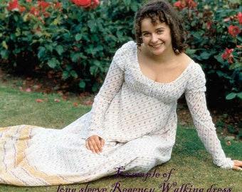 """Regency Dress for Walking """"LYDIA BENNET"""" Jane Austen style"""