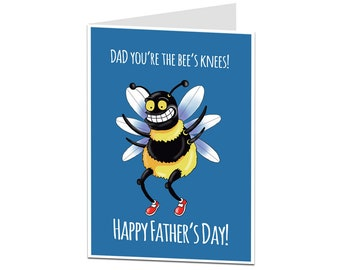 Bee's Knees Funny Father's Day Card. Bee Fathers Day Card