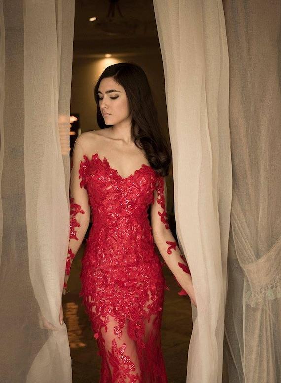 HOT Prom Kleider 2018 roten Abendkleid Abschlussballkleid