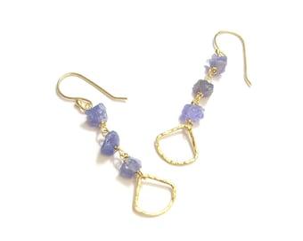Vermeil and Tanzanite earrings