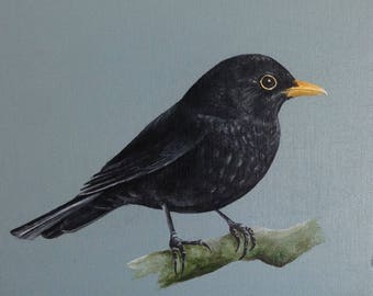 Blackbird Original Painting