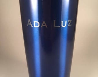 20oz Blue Stainless Steel Coffee Tumblers