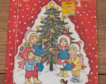 vintage 70s junior elf book My First picture book of CHRISTMAS CAROLS children picture book