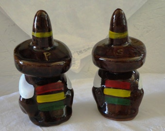 Sombreroed Siesta Taking Salt and Pepper Shakers