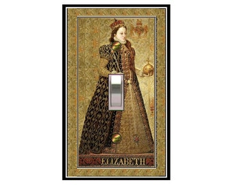 0599x - Elizabeth, the Queen - mrs butler switch plate covers -