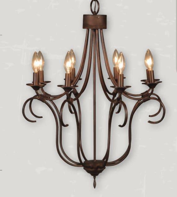 Copper Chandelier Pendant Light Copper Light Fixture Rustic