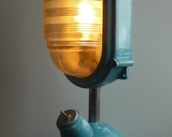 COUGHTRIE Glasgow Bulk Head Lamp Re-purposed as Retro Table Accent Lamp