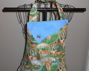 Fancy Deer - Women's Apron - Ruffle - Pocket - Woods - Animal