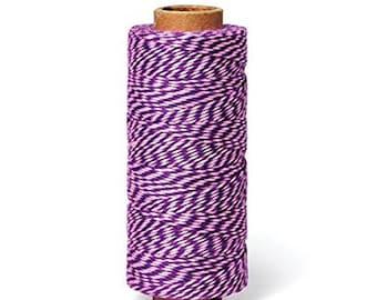 Hemptique BTS2-Pur-Pnk 2-Ply Baker's Twine Spool, Purple/Pink