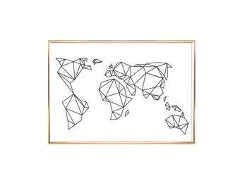 Art Print Geometric Earth
