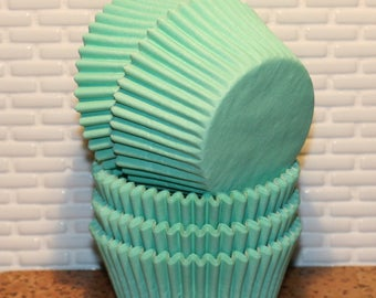 NEW - Mint Green Heavy Duty Cupcake Liners (Qty 32) Mint Green Baking Cups, Mint Green Muffin Cups, Cupcake Liners, Baking Cups, Muffin Cups