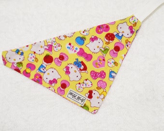 Hello Kitty. Reversible bandana for dogs and cats. Tie on dog bandana
