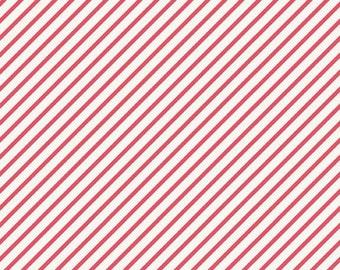Pink Diagonal Stripe Fabric, Riley Blake Unforgettable, C3864-Pink, Bias Stripe Fabric, Quilt Fabric, Striped Cotton Fabric
